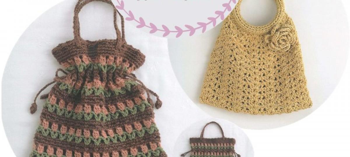 12 Modelos de Bolsas de Crochê com Receitas