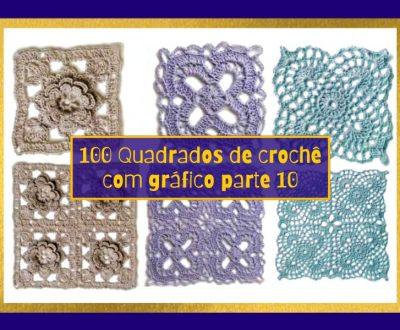 100 Quadrados de Crochê com Gráfico Parte 10