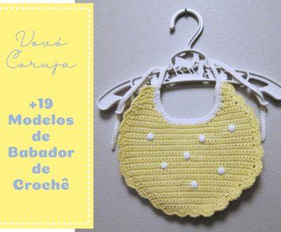Vovó Coruja: +19 Modelos de Babador de Crochê