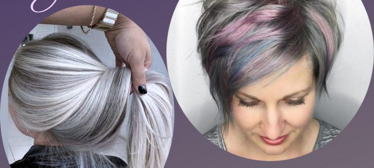 Bem na foto: 54 Inspirações de cabelos com tons prateados lisos