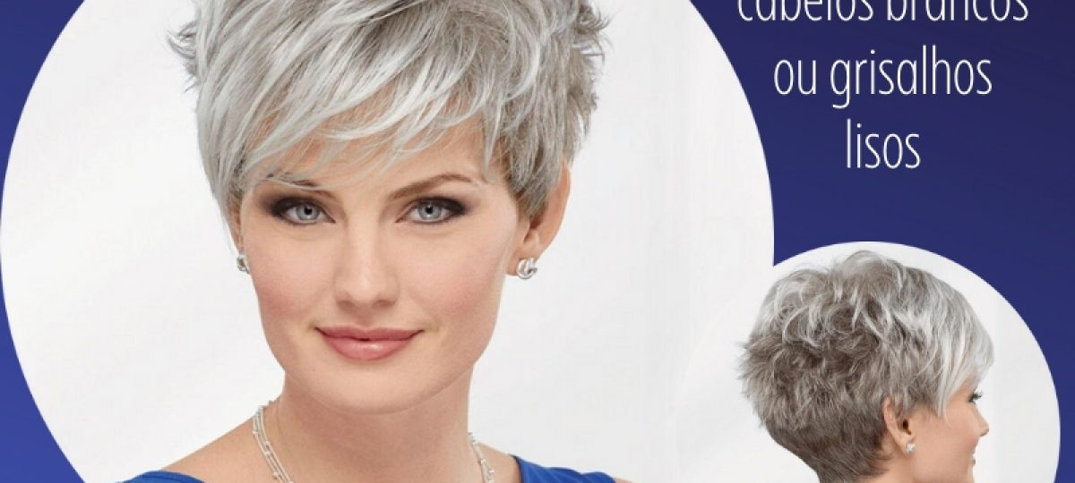 Bem na foto: Corte de cabelos brancos ou grisalhos lisos