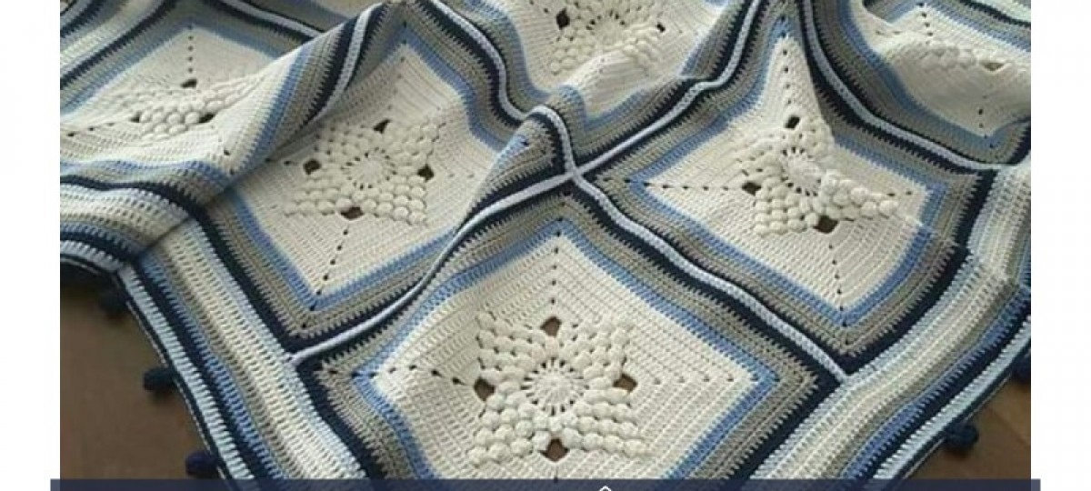 Colchas e almofadas de crochê - 16 ideias para copiar