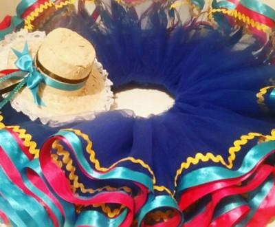 roupa para festa junina - saia tutu - DIY